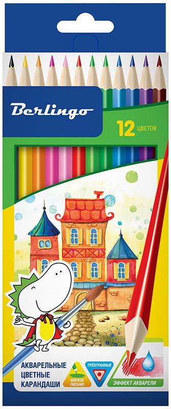 Berlingo Набор цветных акварельных карандашей Сказочный город 12 шт erich krause набор цветных акварельных карандашей с кисточкой 12 шт