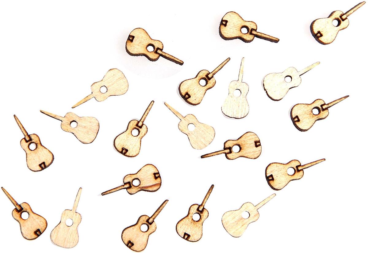 """Заготовка для декорирования Decoriton """"Гитара"""", 1,5 х 0,3 см, 20 шт"""