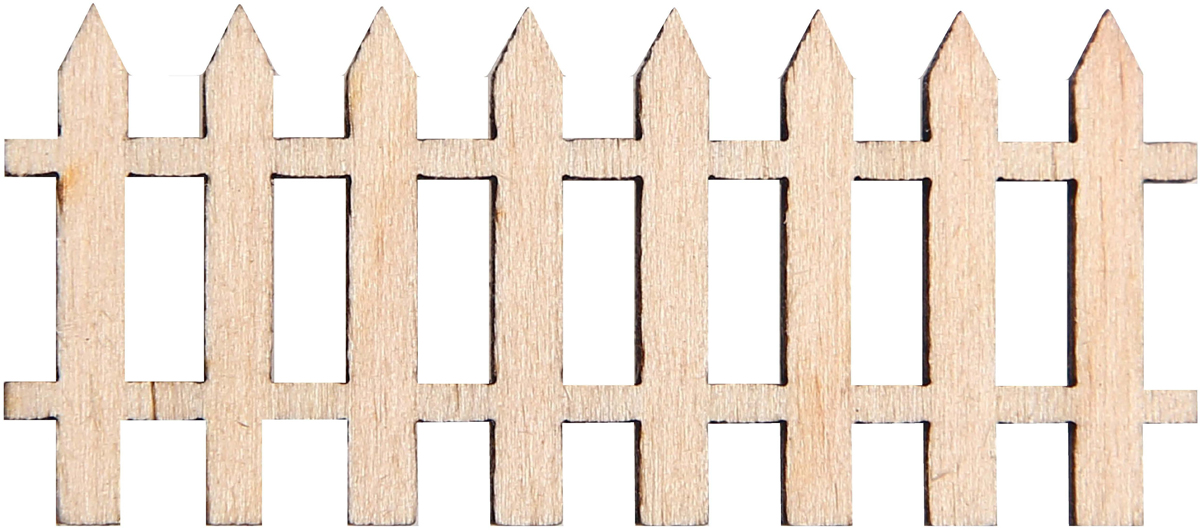 Заготовка деревянная Decoriton Забор, 15 х 6,5 х 0,3 см idigo заготовка для декорирования из пенопласта корова 15 9см dz1501