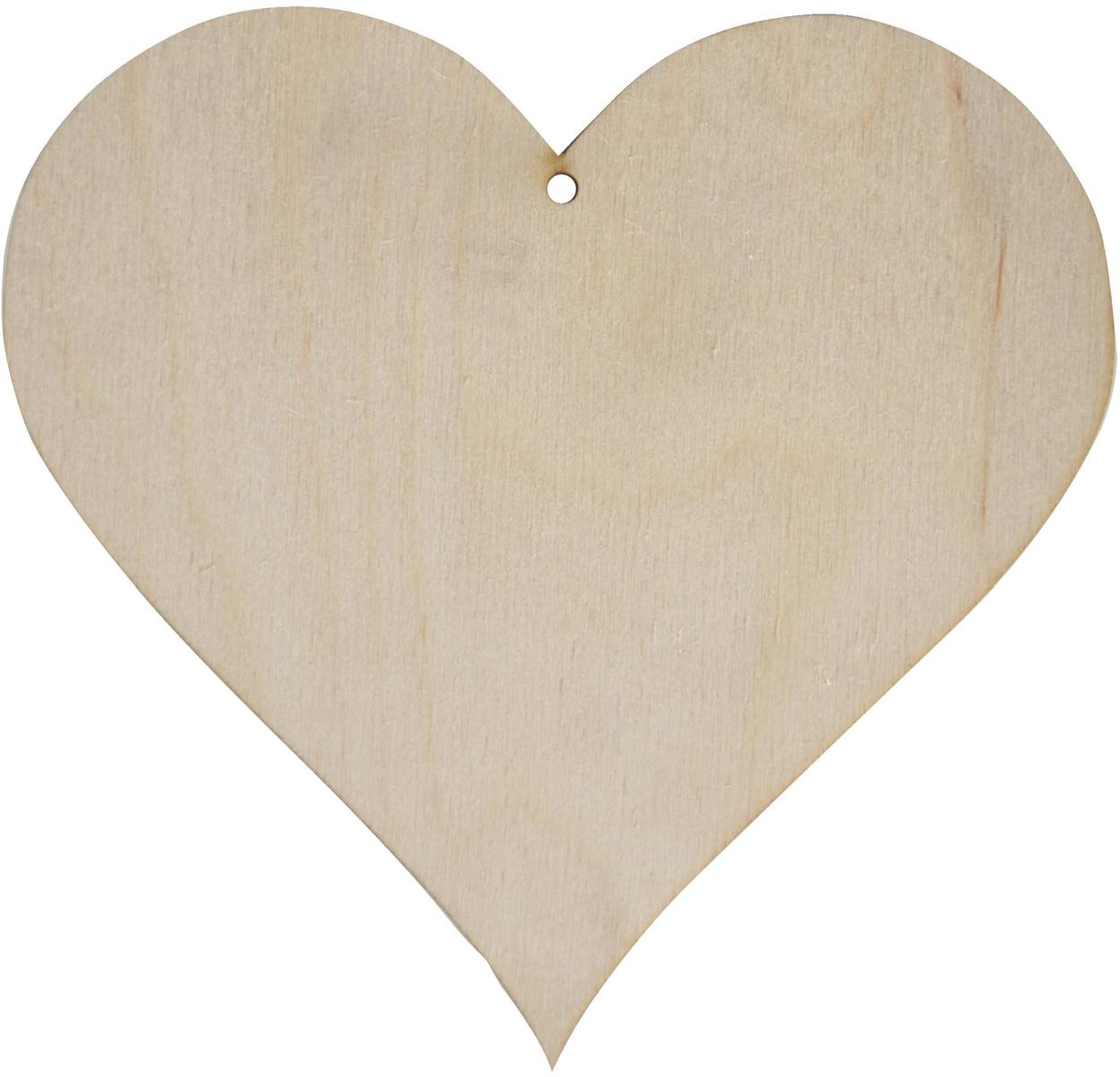 Заготовка деревянная Decoriton Сердце №1, 10 х 0,3 см idigo заготовка для декорирования из пенопласта корова 15 9см dz1501