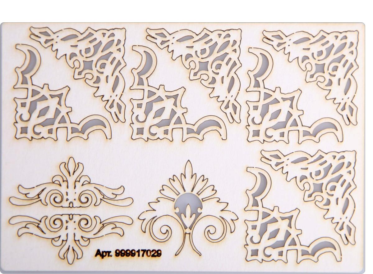 """Чип-борд картонный Decoriton """"Уголки крупные №32"""", 11,5 х 16,5 x 0,09 см"""