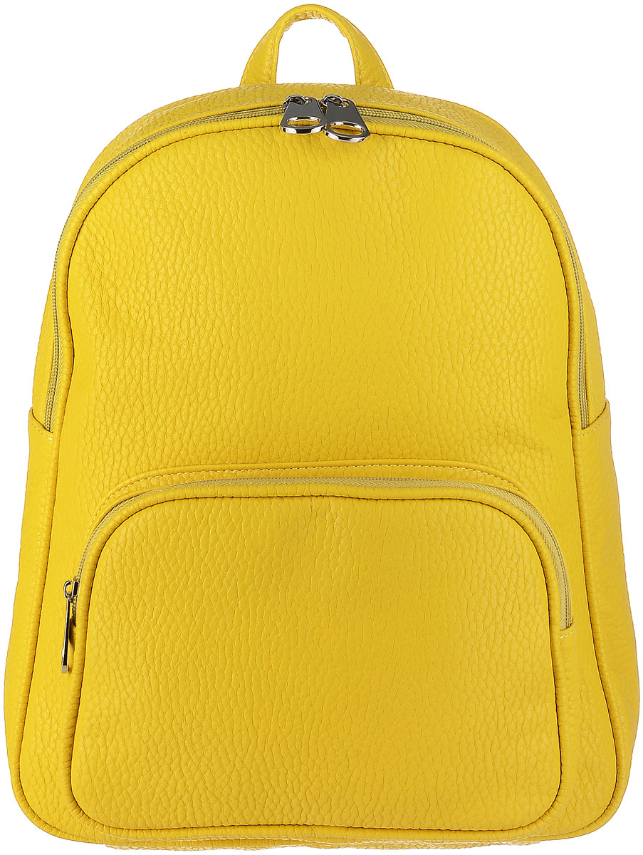 02e59d323027 Рюкзак женский Медведково, цвет: желтый. 17с0155-к14 — купить в интернет- магазине OZON.ru с быстрой доставкой