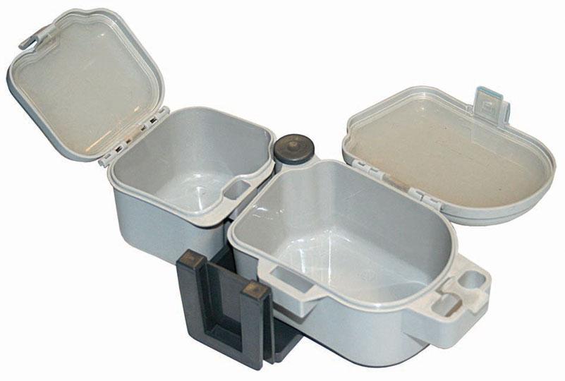 Коробка рыболовная Salmo Live Bait, цвет: светло-серый, 21,5 х 10 х 6,7 см