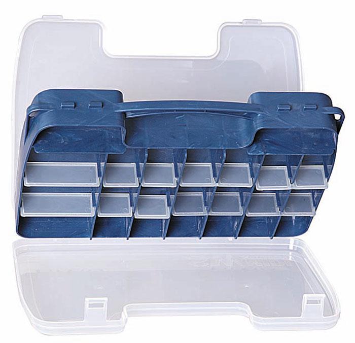 Коробка рыболовная Salmo Double Sided, двухсторонняя, цвет: голубой, 30 x 20 x 6,2 см