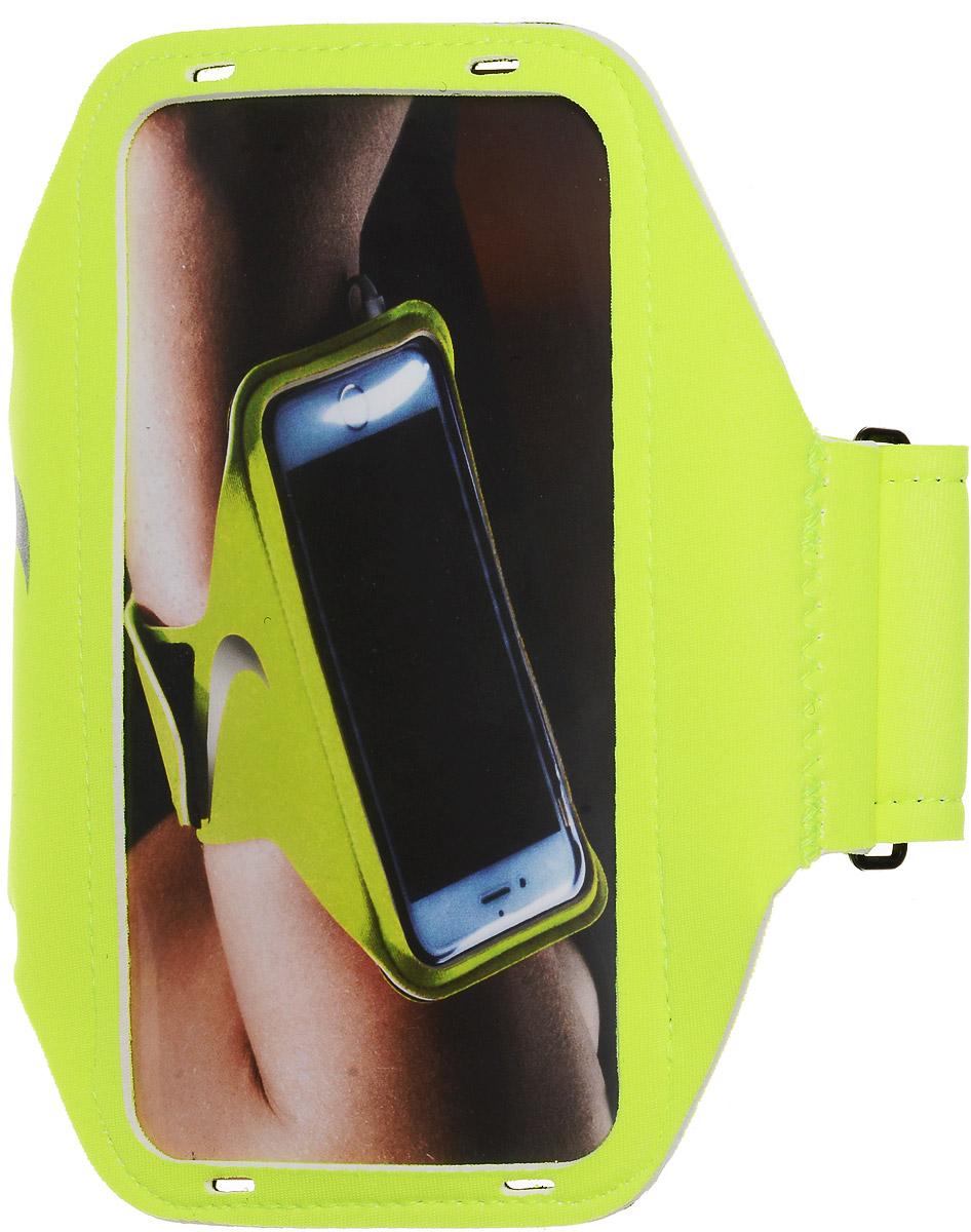 """Чехол для телефона на руку Nike """"Lean Arm Band"""", цвет: салатовый, серый"""