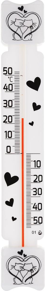 Термометр оконный Стеклоприбор Кошки. ТБ-3М1 исп.5Д термометр для холодильника стеклоприбор тб 3м1 исп 9