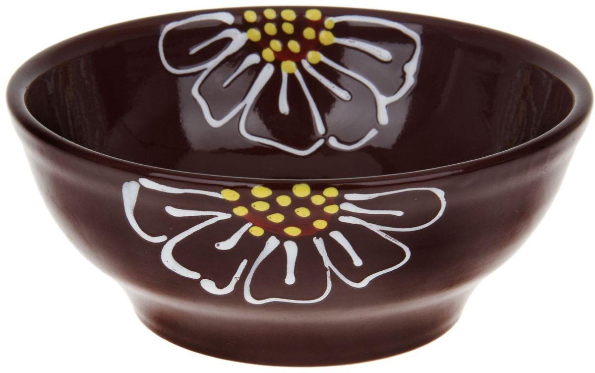Миска Псковский гончар, цвет: темно-коричневый, 800 мл миска псковский гончар праздничная