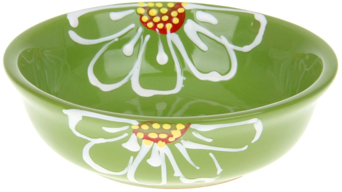 Миска Псковский гончар, цвет: зеленый, 400 мл миска псковский гончар праздничная
