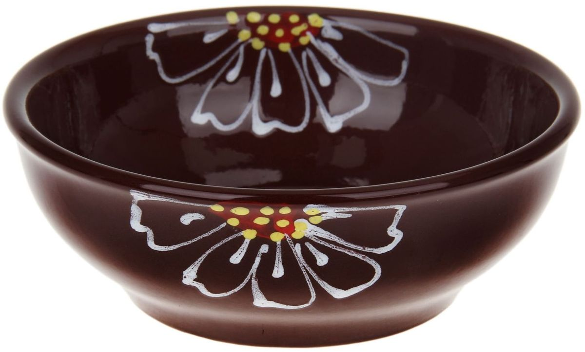 Миска Псковский гончар, цвет: темно-коричневый, 600 мл миска псковский гончар праздничная