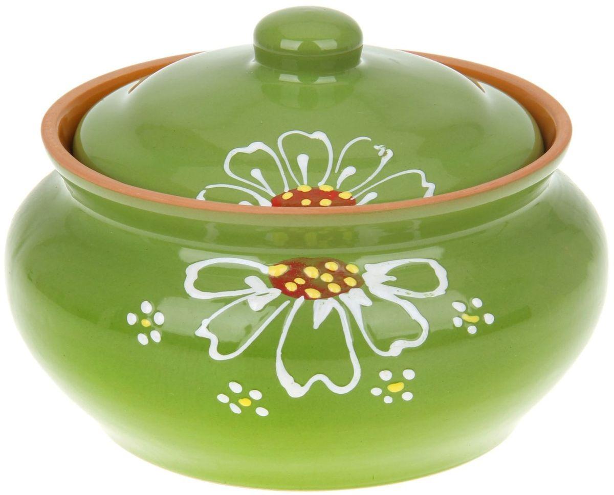 Пельменница Псковский гончар, цвет: зеленый, 2 л миска псковский гончар праздничная
