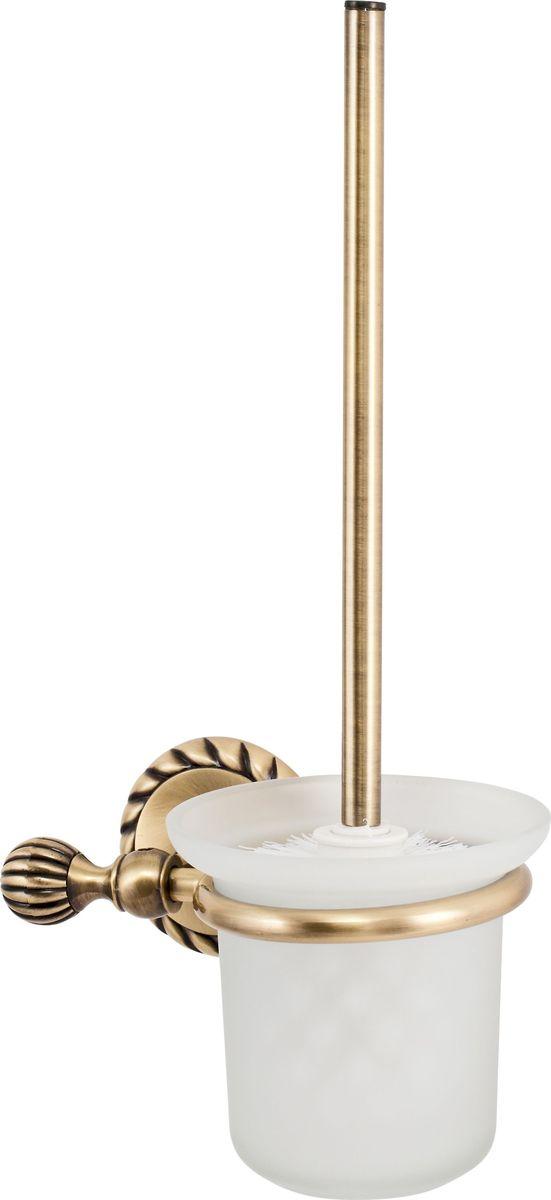 Ершик для унитаза Del Mare 11800, с подставкой, настенный, цвет: античная бронза ершик для унитаза del mare 1500 с подставкой настенный цвет хром