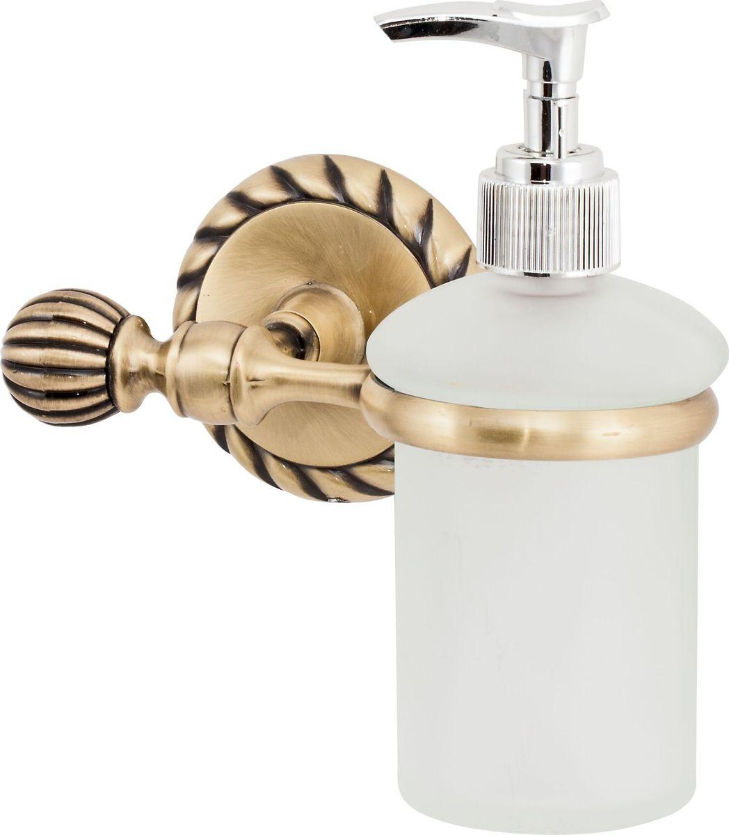 """Дозатор для жидкого мыла Del Mare """"11800"""", цвет: античная бронза"""