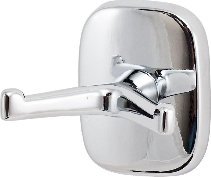 Крючок для ванной Del Mare 1500, двойной, цвет: хром ершик для унитаза del mare 1500 с подставкой настенный цвет хром