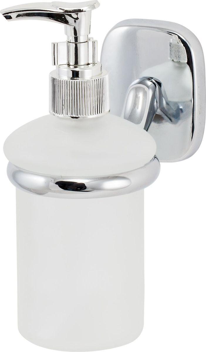 Дозатор для жидкого мыла Del Mare 1500, цвет: хром ершик для унитаза del mare 1500 с подставкой настенный цвет хром