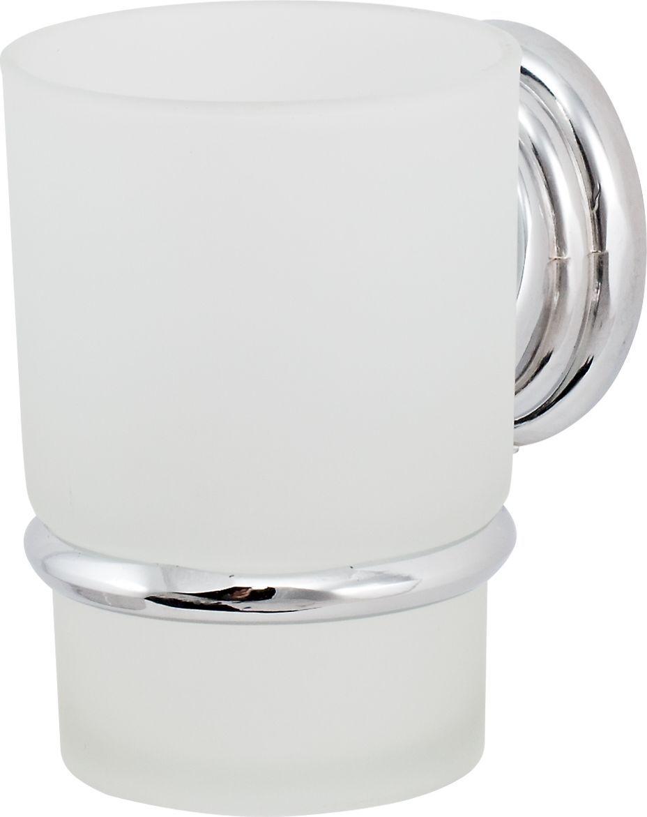 Держатель стакана Del Mare 3100, цвет: хром ершик для унитаза del mare 1500 с подставкой настенный цвет хром