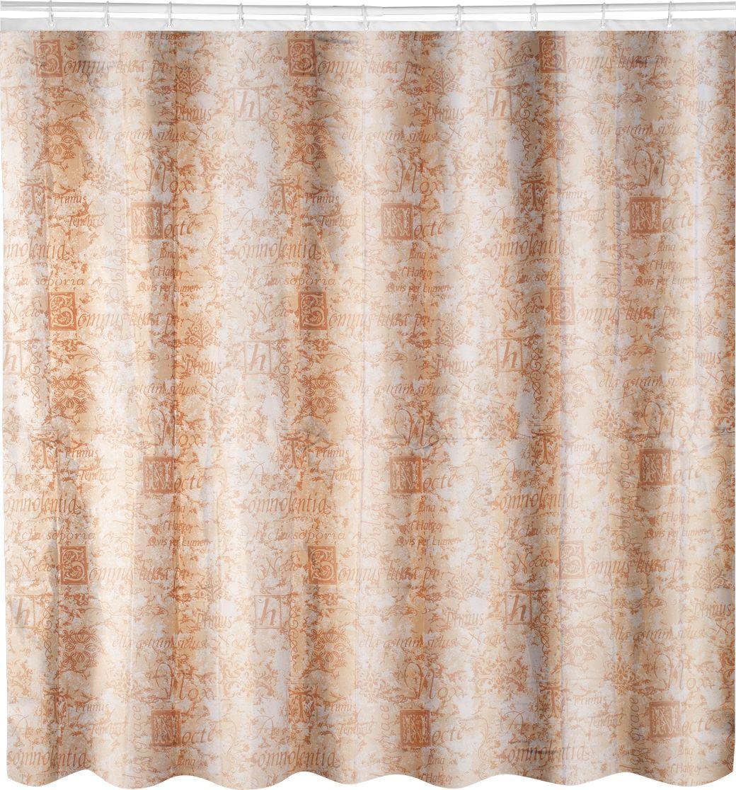 цена на Штора для ванной Swensa Антик, цвет: бежевый, 180 х 180 см