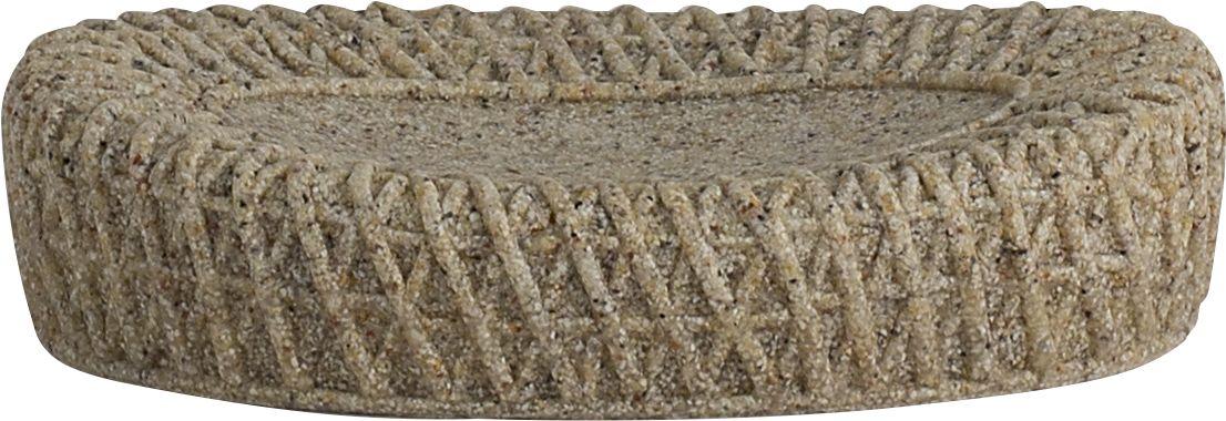Мыльница Swensa Тиволи, цвет: светло-коричневыйSWT-1450DМыльница Swensa Тиволи входит в одноименную коллекцию аксессуаров, выдержанную в современной стилистике. Особую выразительность модели придает оригинальное дизайнерское решение: имитация фактуры крупной вязки. Полирезин, из которого выполнено изделие, отличают пластичность, ударопрочность, стойкость к влаге и горячему пару. Поверхность материала не имеет пор, поэтому исключает возможность образования плесени.