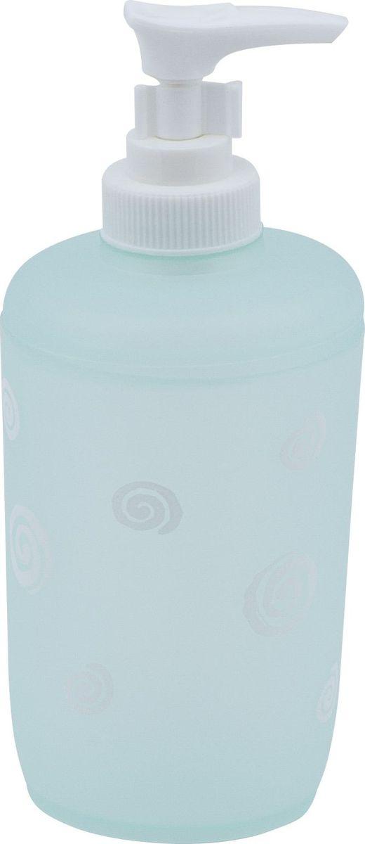 Дозатор для жидкого мыла Swensa Спираль, цвет: бирюзовый, 250 мл дозатор жидкого мыла grampus laguna gr 7812