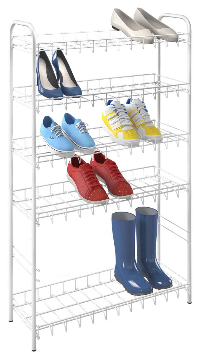 Подставка для обуви Metaltex цвет  белый 6 ярусов