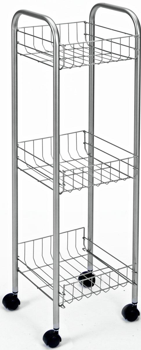 Этажерка 3-х уровневая Toronto, 23 x 23 x 83 см этажерка metaltex madrid 2 яруса 41х 23 х 51 см