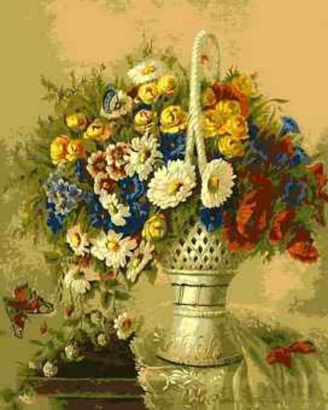 Набор для рисования по номерам Цветной Цветочный натюрморт, 40 х 50 см набор для рисования по номерам цветной милый котенок 40 х 50 см