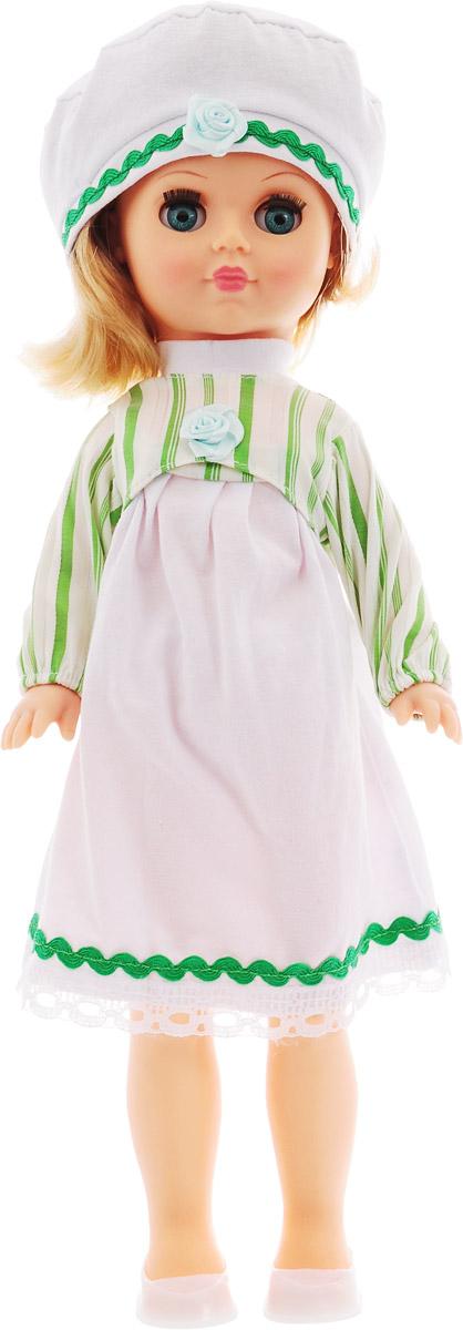 Весна Кукла Мила цвет одежды зеленый белый