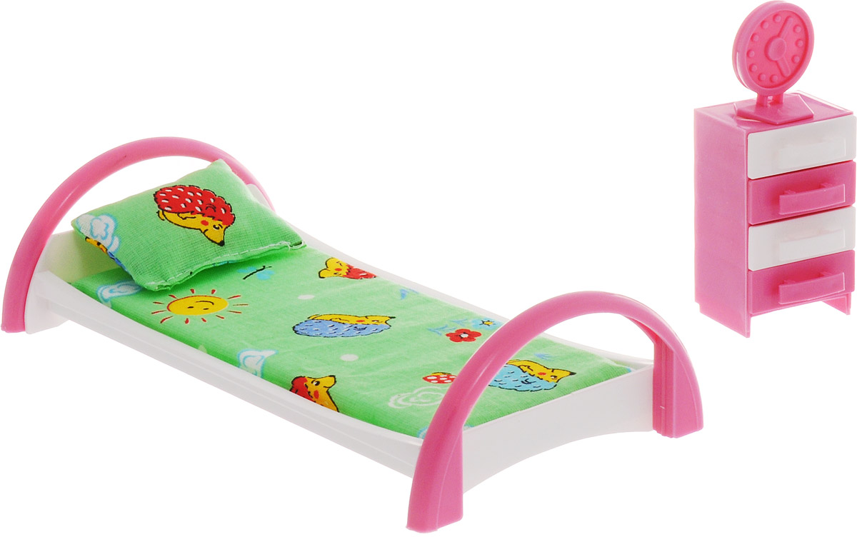 Форма Набор мебели для кукол Кровать с тумбочкой Ежик цвет зеленый шезлонг chicco balloon dark grey 05079282400000
