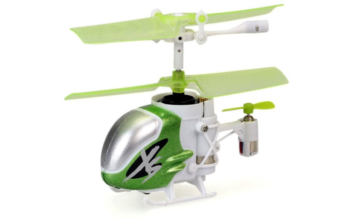 Silverlit Вертолет на инфракрасном управлении Nano Falcon XS цвет зеленый белый самолеты и вертолеты abtoys вертолет на инфракрасном управлении с гироскопом