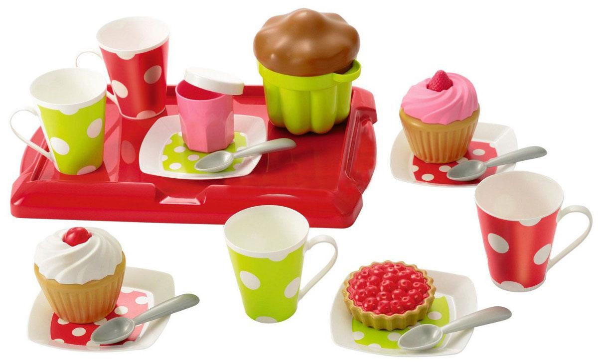 Ecoiffier Игрушечный набор Завтрак на подносе игра ecoiffier chef набор посуды с сушилкой 2619
