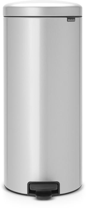 Бак мусорный Brabantia NewIcon, с педалью, с внутренним металлическим ведром, цвет: серый металлик, 30 л. 114724 бак мусорный brabantia с педалью цвет серый металлик 12 л 214660