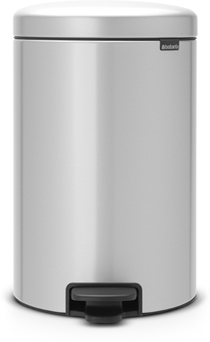 Бак мусорный Brabantia NewIcon, с педалью, цвет: серый металлик, 20 л. 114069 бак мусорный brabantia с педалью цвет серый металлик 12 л 214660