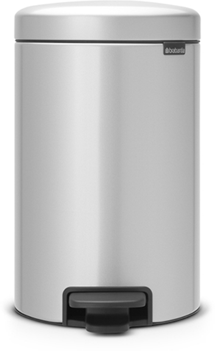 Бак мусорный Brabantia NewIcon, с педалью, цвет: серый металлик, 12 л. 113680 бак мусорный brabantia с педалью цвет серый металлик 12 л 214660