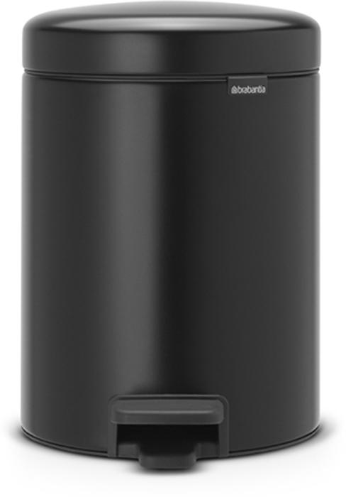 Бак мусорный Brabantia NewIcon, с педалью, цвет: черный, 5 л. 112928 бак мусорный brabantia с педалью цвет серый металлик 12 л 214660