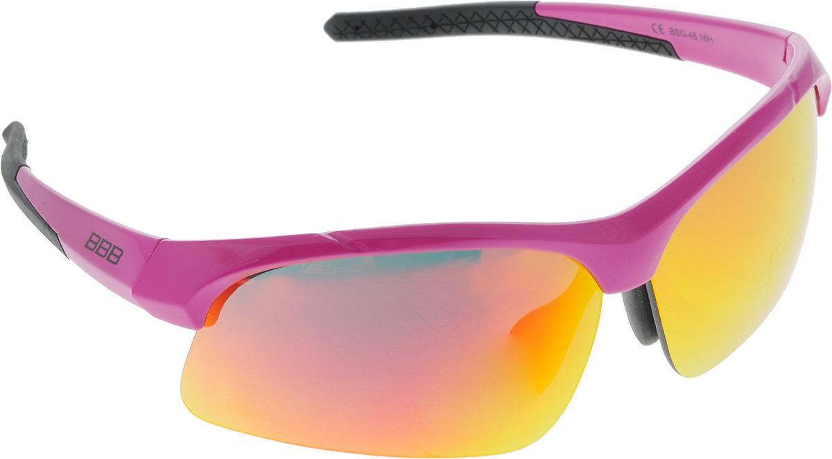 Очки солнцезащитные BBB Impress Small PC Smoke Red Lenses, цвет: розовый