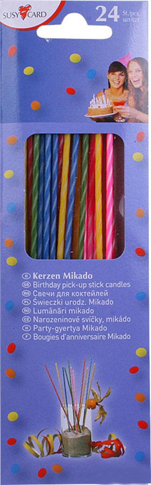 Susy Card Свечи для торта детские коктейльные 24 шт