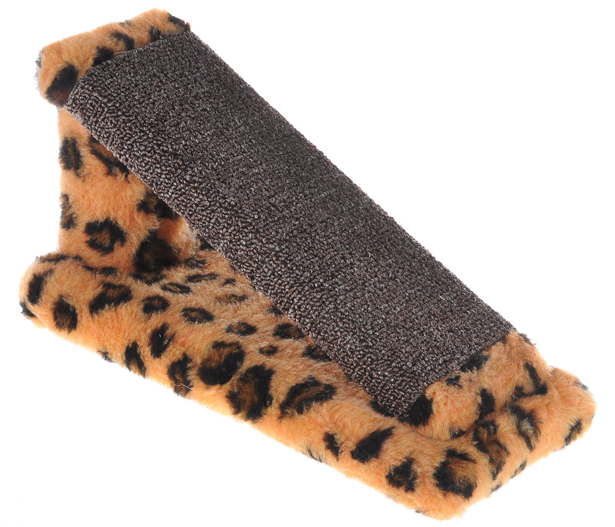 Когтеточка для котят Меридиан Горка, цвет: коричневый, темно-коричневый, черный, 29 х 14 см