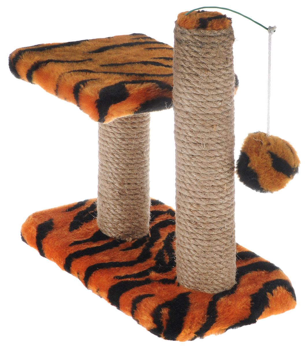 Когтеточка для котят Меридиан, двойная, цвет в ассортименте, 30 х 20 х 34 см когтеточка для котят меридиан цветы двойная цвет белый светло коричневый 30 х 20 х 34 см