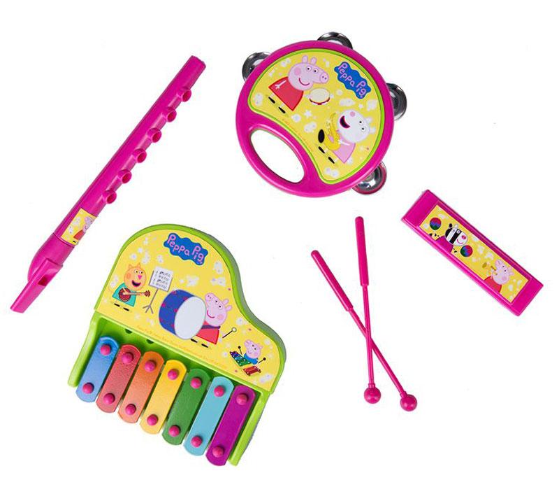 Peppa Pig Набор музыкальных инструментов Свинка Пеппа 6 предметов цена 2017