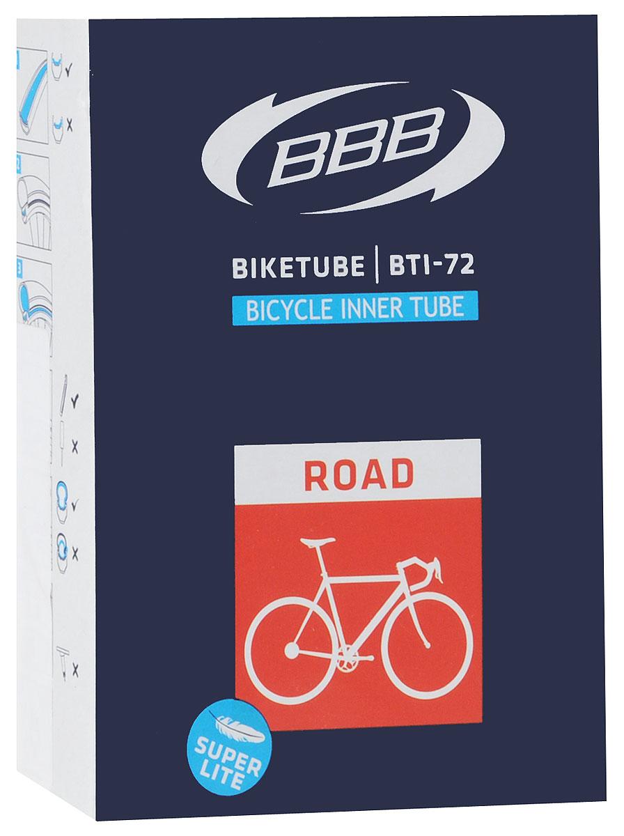 Камера велосипедная BBB, 28, 18, 25C F, V, Super Lite, 60 мм