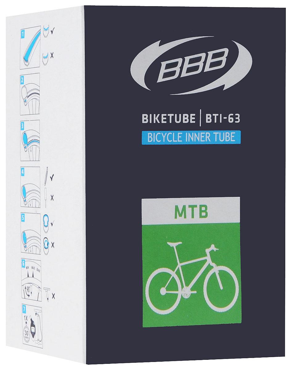 Камера велосипедная BBB, 26, 1,9-2,30 FV камера велосипедная bbb 27 5 2 10 2 35 fv 33mm защита от проколов велониппель bti 68