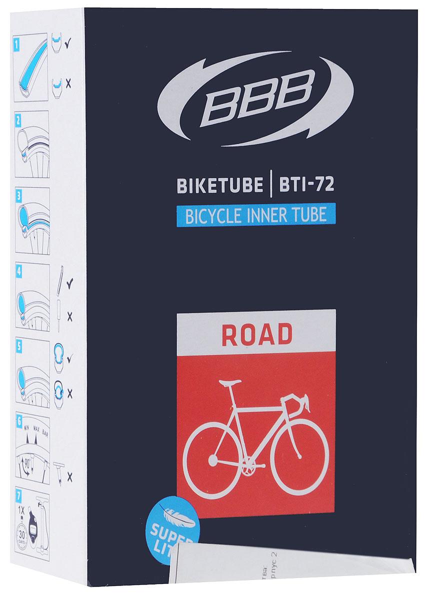 Камера велосипедная BBB, 28, 18, 25C F, V, Super Lite, 80 мм