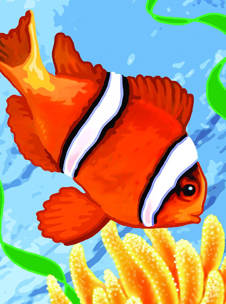 Royal & Langnickel Картина по номерам Рыба-Клоун pannorama панно рыбка клоун