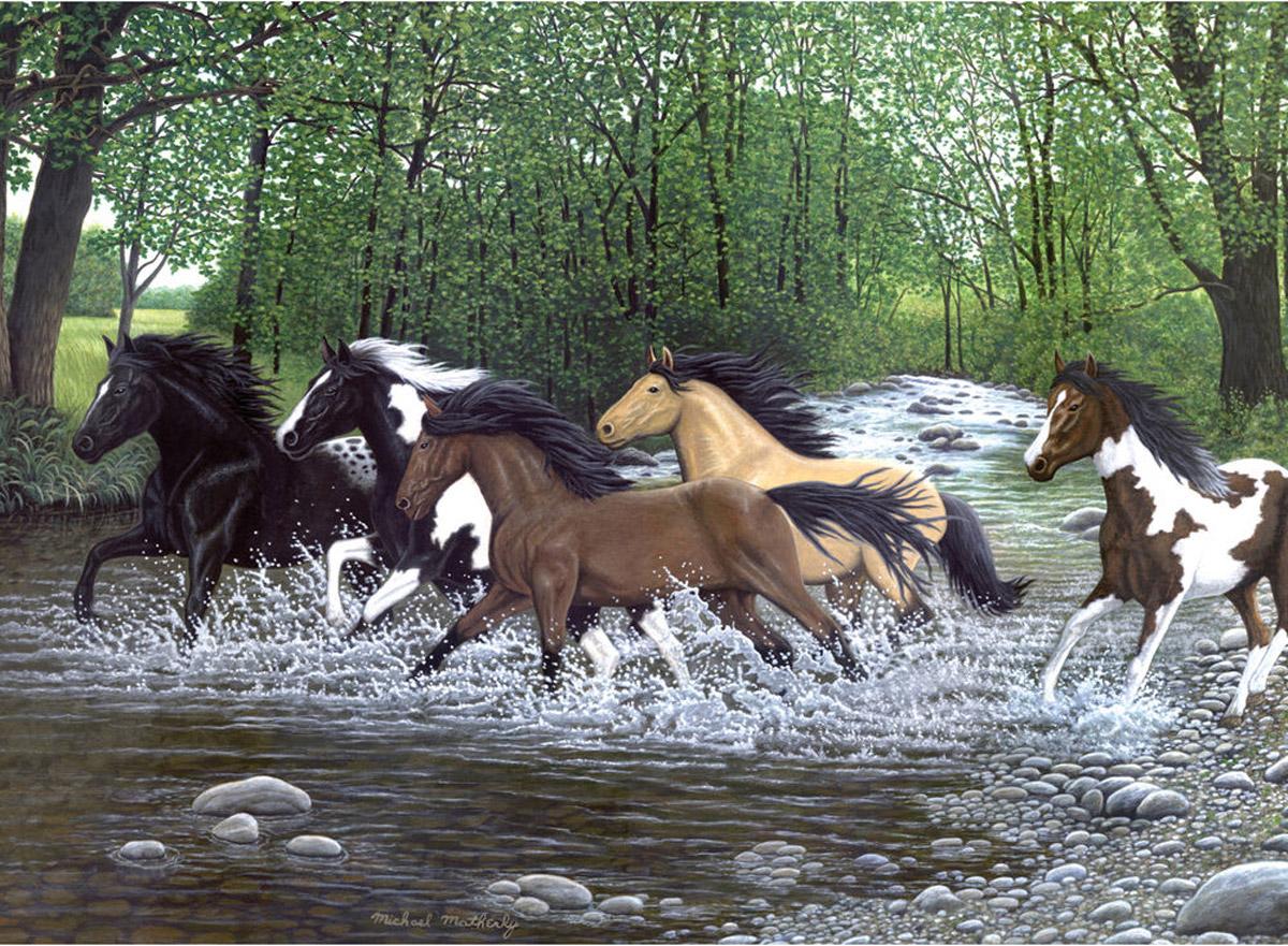 Royal & Langnickel Картина по номерам Бегущие лошади раскраска по номерам бегущие лошади 28x39см