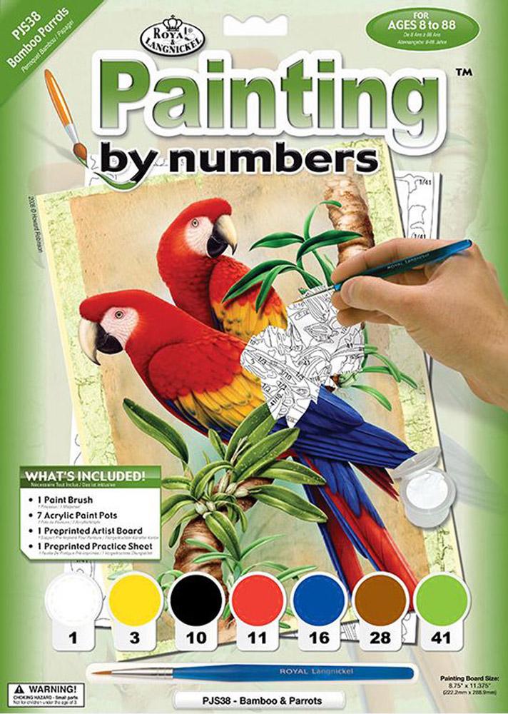 Royal & Langnickel Картина по номерам Бамбуковые попугаи