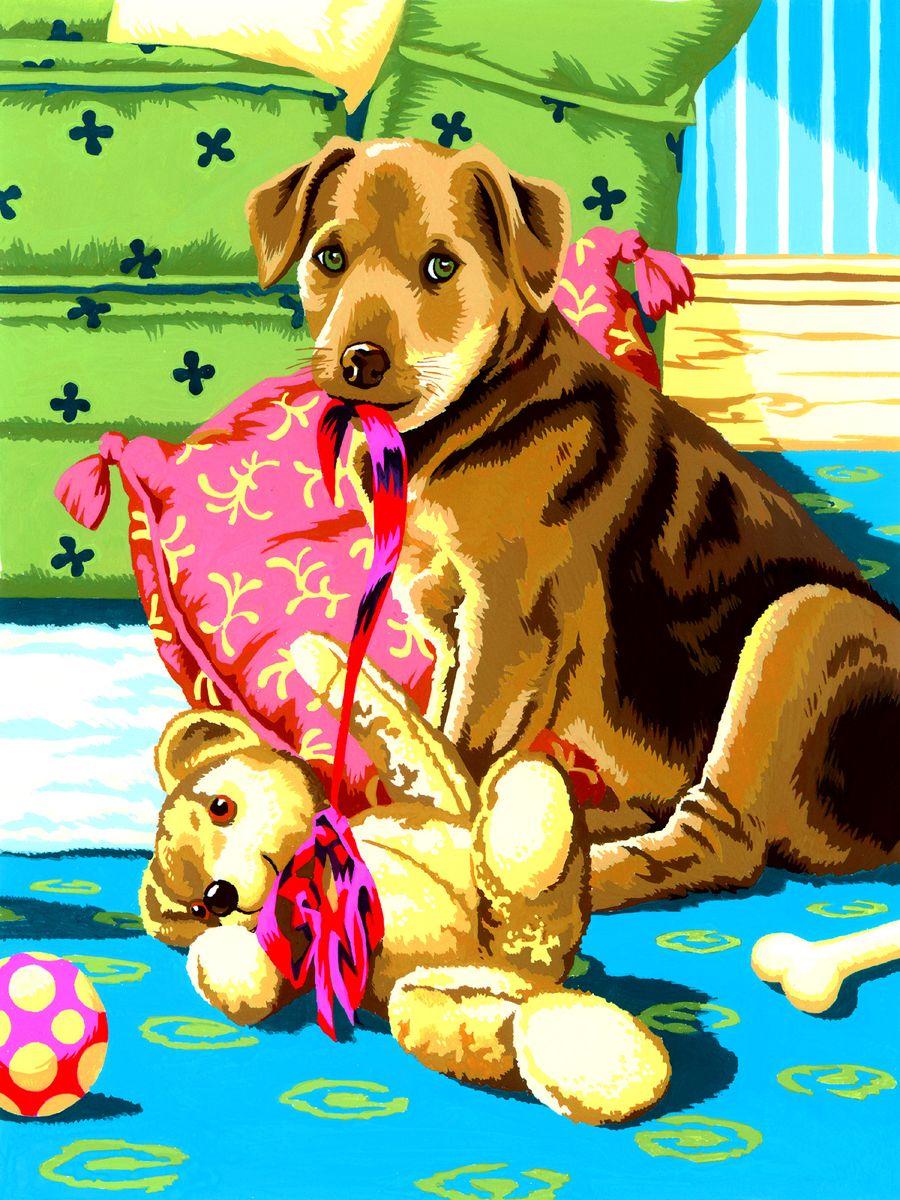 Royal & Langnickel Картина по номерам Щенок и Тедди ...
