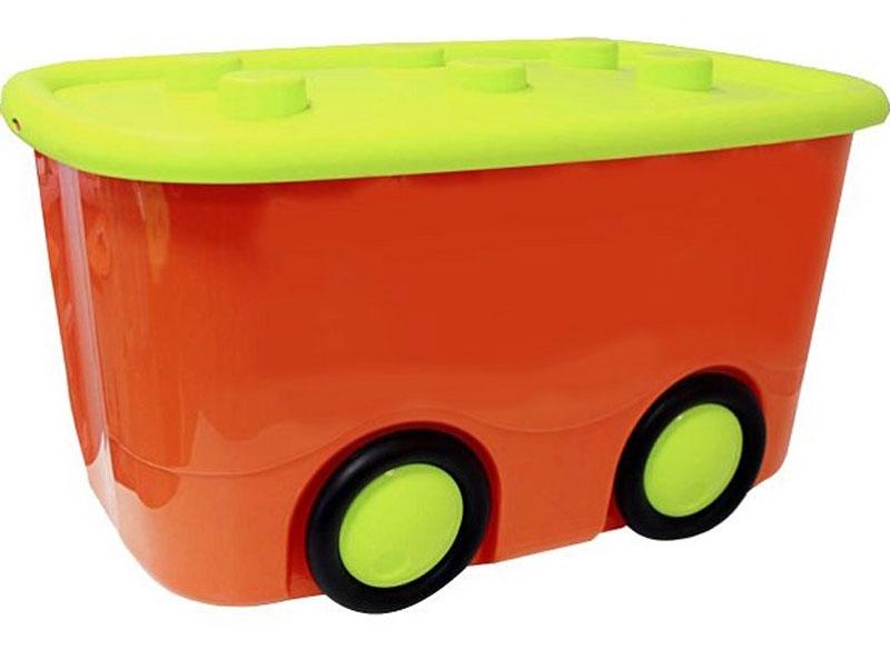 Idea Ящик для игрушек Моби цвет оранжевый 41,5 х 60 х 32 см цена 2017