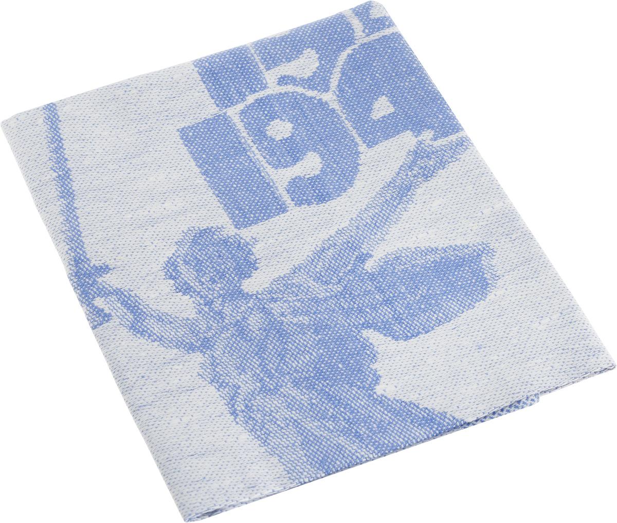 Фото - Салфетка жаккардовая Гаврилов-Ямский Лен, цвет: синий, белый, 45 х 45 см салфетка хв лен 30х70 см