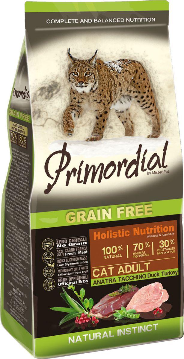 """Корм сухой """"Primordial"""" для кошек, беззерновой, утка и индейка, 2 кг"""