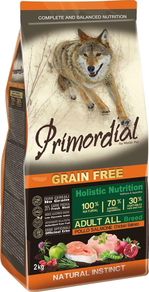 Корм сухой Primordial для собак, беззерновой, курица и лосось, 12 кг