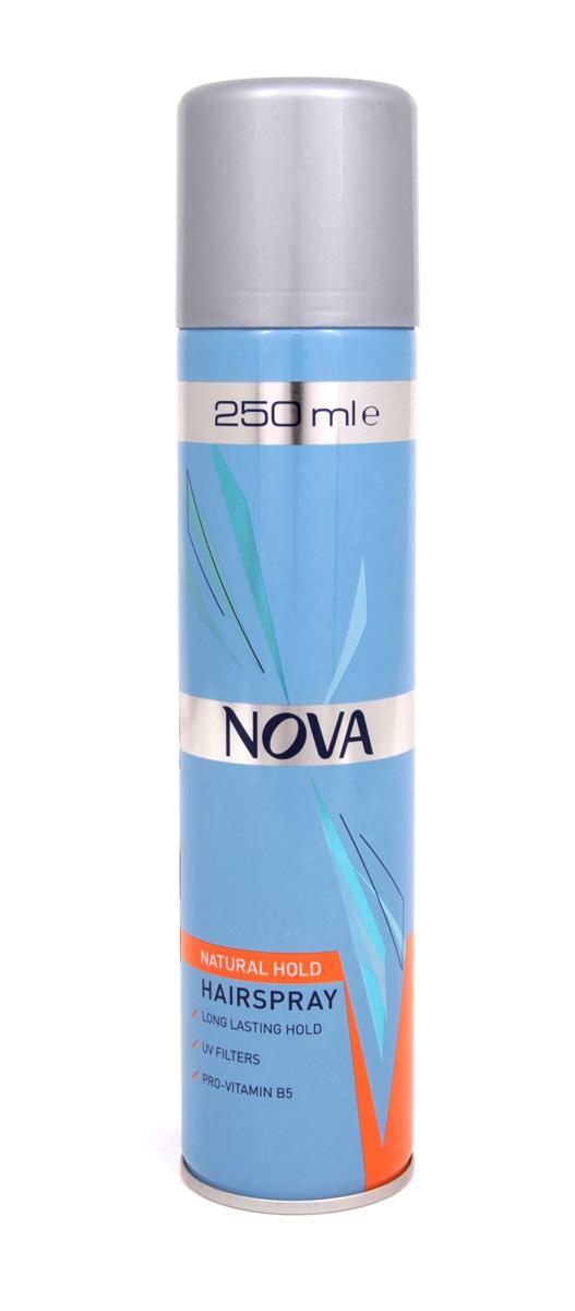 Лак для волос Nova супер фиксации 250 мл (оранжевый)